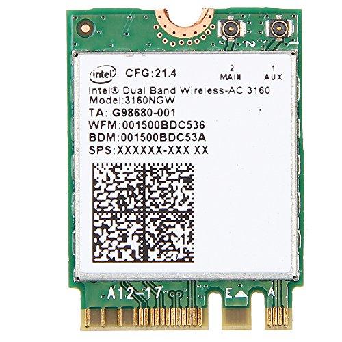 Intel Dual Band Wireless-AC 3160 3160NGW 802.11ac/a/b/g/n BT4.0 NGFF Wifi Card 2.4/5.8Ghz not for IBM/Lenovo/Thinkpad and HP