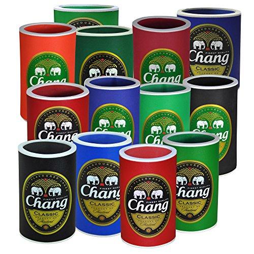 Flaschen-und Dosenkühler in verschiedenen Größen, Chang (5 Stück bunte Mischung)