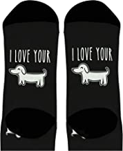 Funny Couples Gifts I Love Your Wiener Dog Socks Pun Socks Husband Gifts Punny Novelty Crew Socks
