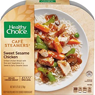 Healthy Choice Cafe Steamers Sweet Sesame Chicken, 9.75 Ounce -- 8 per case.