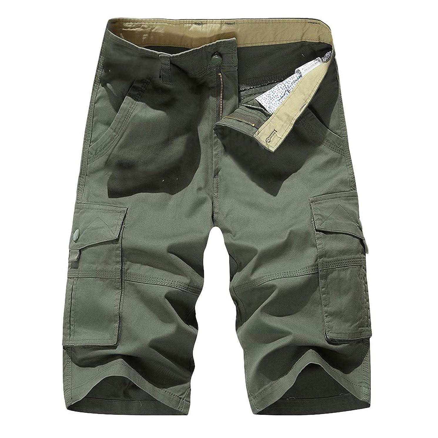 Mens Shorts Casual Mens Shorts Cargo 7 Inch Shorts with Zipper Pockets Pants