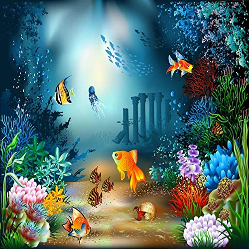 Msrahves Papel Pintado Fotográfico Mundo submarino mar peces coral. Fotomurales Decorativos Pared 3D Póster Sala de Estar Dormitorio TV Fondo Papel Pintado 3D Fotomurale 3D Tv Telón De Fondo Pared