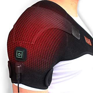 CREATRILL Heated Shoulder Wrap, 3 Heat Settings, Heating Pad Support Brace for Rotator Cuff, Joint Capsule & Biceps Tendon Injury, Frozen Shoulder, Shoulder Dislocation or Muscles Pain Relief