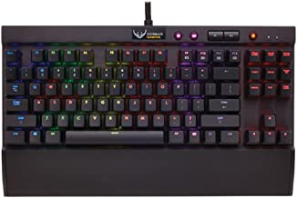 Corsair Gaming K65 RGB Compact Mechanical Gaming Keyboard - with Cherry MX Red Switches