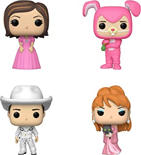 Funko TV: POP! Friends Collectors Set 3 - Rachel in Pink Dress, Chandler as Bunny, Cowboy Joey, Music Video Phoebe
