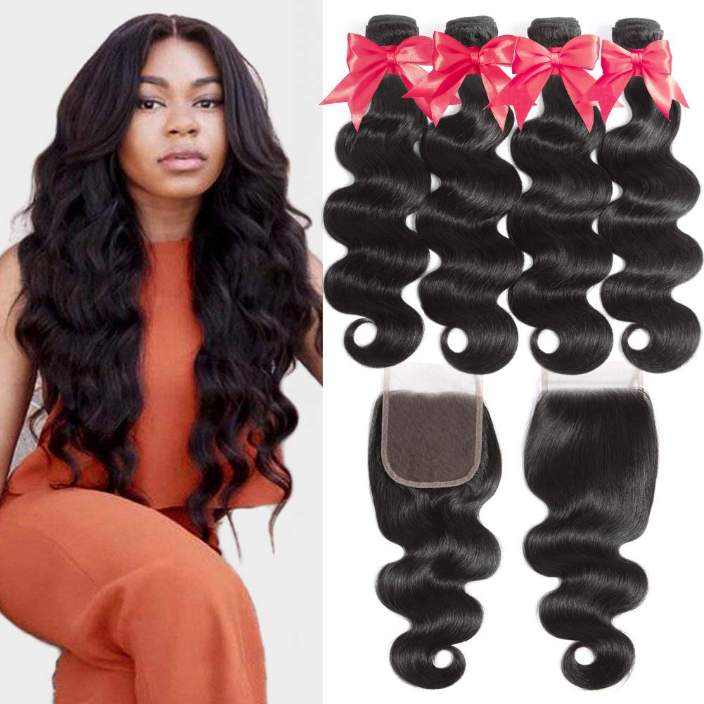 Beauhair 4 Bundles with Closure 12 14 Free 16 Max 66% OFF Profes 18+12 Part Ranking TOP9