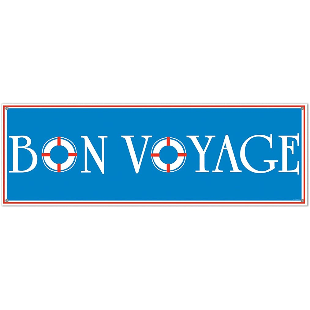 Bon Voyage Sign Banner Party Accessory (1 count) (1/Pkg)