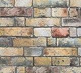 A.S. Création Vliestapete Authentic Walls Tapete in Vintage Stein Optik 10,05 m x 0,53 m braun gelb grau Made in Germany 302561 30256-1