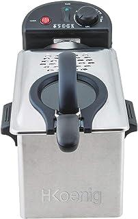 H.Koenig DFX300 Friteuse INOX, 2100 W, 3 liters, Argenté