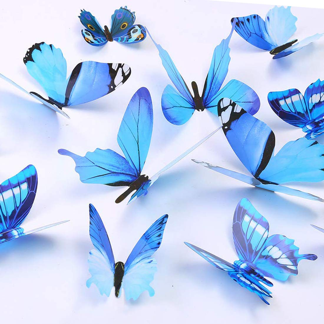 Butterfly Many popular brands Wall Decals 24 Pcs Stick Mural Removable Max 59% OFF 3D