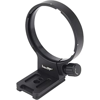 Haoge LF-C223 Lens Collar Replacement Foot Tripod Mount Ring for Canon EF 300mm f2.8L is II USM and EF 400mm f4 DO is II USM Lens Built-in Arca Type Quick Release Plate