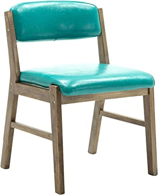 Modern Dining Room Chair,for Home Living Room Bedroom Backrest Chair PU Leather Cake Shop Cafe Lounge Chair (Color : Lake Blue)