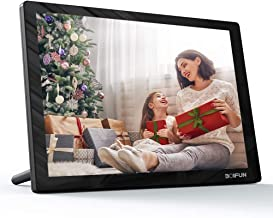 """10.1"""" WiFi Digital Picture Frame with IPS Touch Screen HD Display, Share Photo via App, Email, 16GB Storage, Wall-Mountable/Auto-Rotate/Two Speakers/Support 1080P Video, Black"""