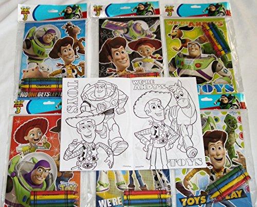 Coloring Book 12 Sets of Disney Pixar Toy Story and Crayon Set Children Party Favors Bag Filler