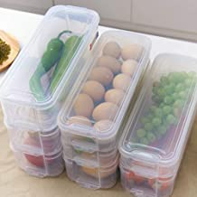 CHAHANG 3 Layers Refrigerator Storage Box Food Storage Containers Plastic Storage Bins Lid for Kitchen Fridge Cabinet Free...