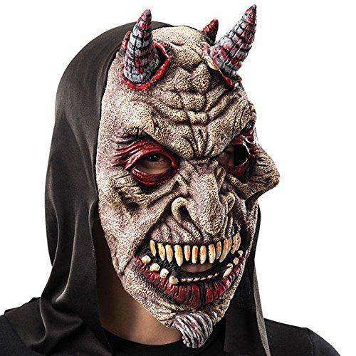 Masque Diable Demon Sanguinolant Halloween - Accessoire Deguisement- 643