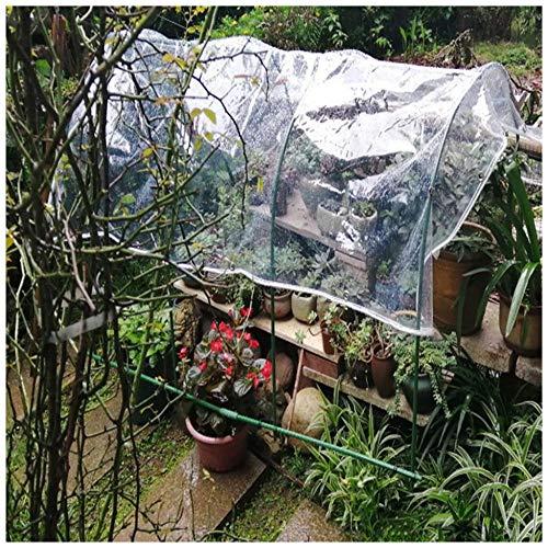 Lona Transparente Con Ojales, Lona Pvc Impermeable, Para Cobertizo Para Plantas Cortina Balcón, Sin Empalmes, El Tamaño Se Puede Personalizar, 400 G / M²(Talla:1.8M×3M)