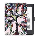 FAN SONG Funda para Kindle Voyage, Delgado Cubierta de Cuero con Función Automática de Sueño/Estela para Kindle Voyage 6 Pulgadas 2014