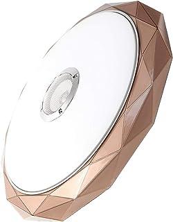 الثريا LED Ceiling Lights Speaker Music Play Remote Control Smart Ceiling Lamp Bedroom Home Lighting Surface Mount Fixture...