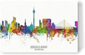 artboxONE Leinwand 90x60 cm Städte/Düsseldorf Düsseldorf