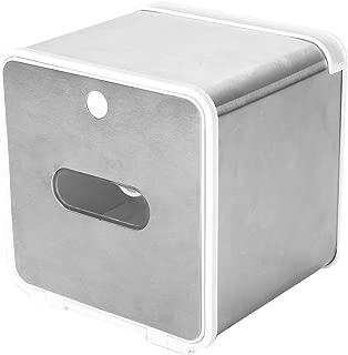 KARYHOME Cat Proof Covered Toilet Paper Holder, Camper RV Toilet Paper Holder, Wall Mounted Tissue Dispenser,Brush Nickle