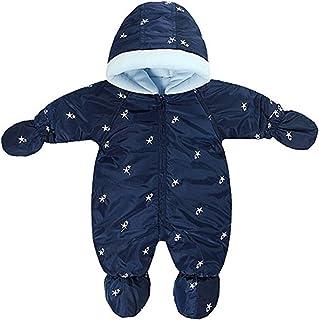664ced30afe1 Little Girls Boys One Piece Winter Warm Hoodie Puffer Down Jacket Jumpsuit  Snowsuit Romper Outwear