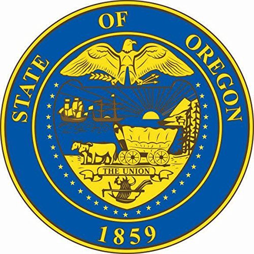 U24 Stickers Oregon Seal Seal Seal Autosticker Sticker contour cut