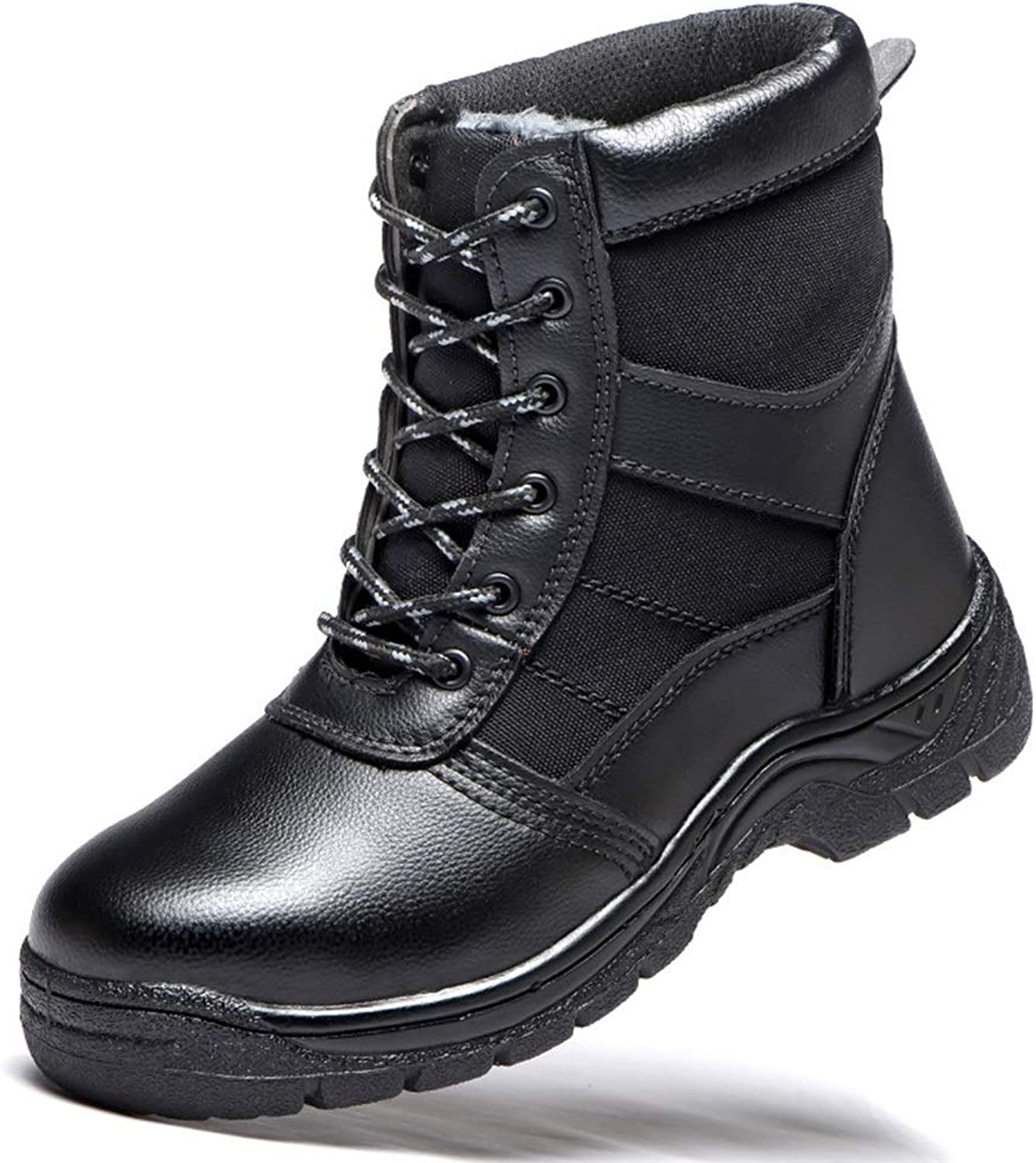 Easy Go Shopping Anti-smash, Stab, Safety shoes, Safety shoes Warm Cotton shoes, Safety shoes, Safety shoes, Cricket shoes (color   Black, Size   42)