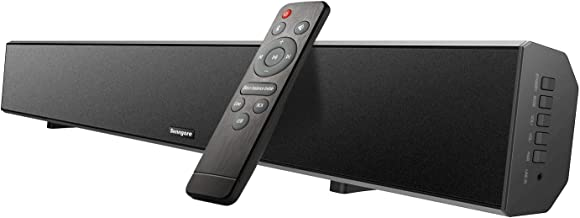 2.1 Channel Sound Bar[2019 Updated], Senngore 40w 36-Inch TV Soundbar 4 Speakers Wired & Bluetooth 4.2 Home Theater for TV PC Smartphone(Deep Bass&Surround Sound, DSP, Remote Control, Wall Mountable)