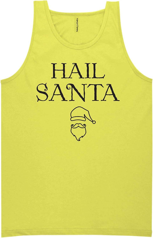 zerogravitee Hail Santa Neon Yellow Tank Top - XX-Large