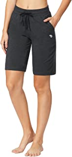 Women's Active Yoga Lounge Bermuda Running Shorts with Pockets