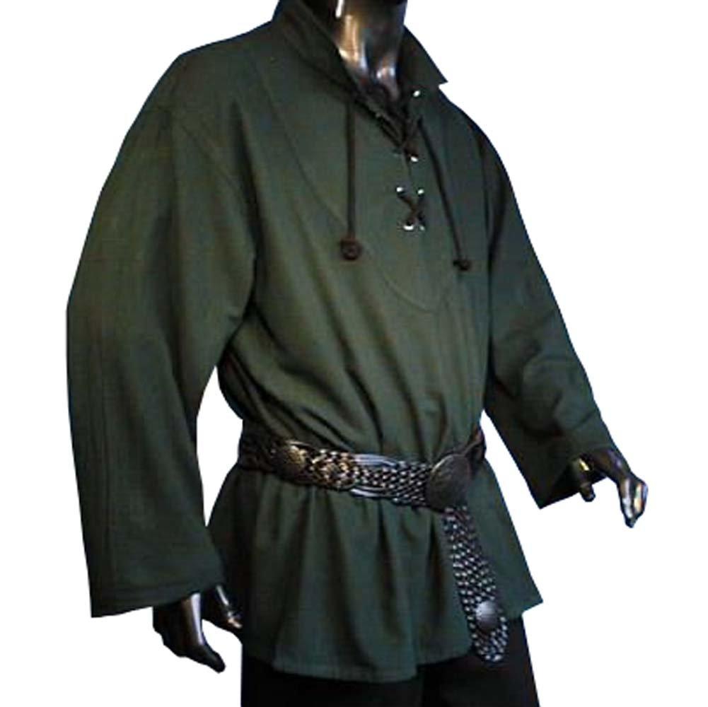 Rol en vivo - Camisa medieval - color verde - XXXL: Amazon.es: Deportes y aire libre