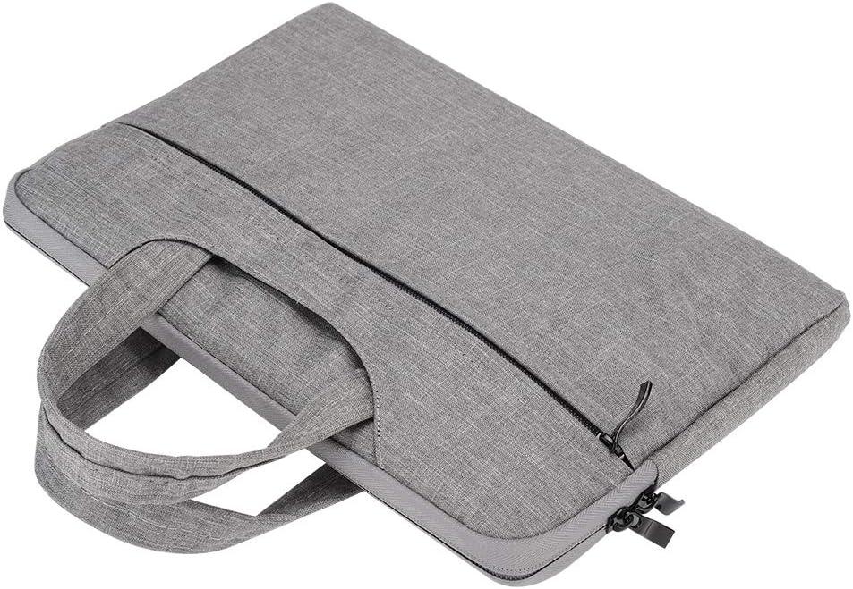Light Grey Laptop Sleeve,11-Inch Portable Hand-Held Business Nylon Waterproof Shockproof Computer Bag for Tablet Light Grey