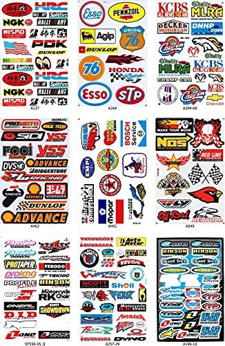 DD Set Konvolut 9 Bogen Bögen Sponsoren Sticker Aufkleber Folie 270 mm x 180 mm wetterfest