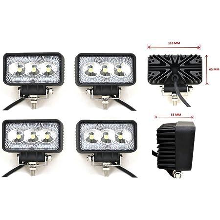 flexzon 4X WATERPROOF 24W 8 LED FLOOD BEEM WORK LIGHT LAMP BAR OFFROAD 4X4 ATV 12V//24V