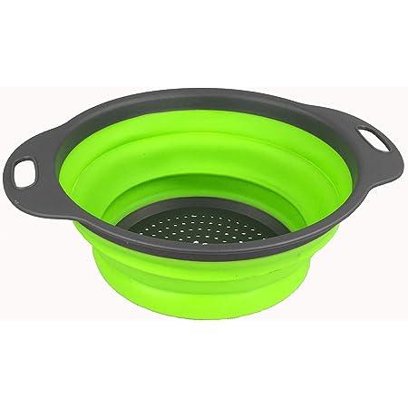 Passoire pliable en silicone - Passoire pliable pour cuisine - Vert