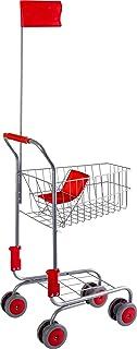 """small foot 4046 shoppingvagn """"silver"""" av metall, tillbehör för köpmän och fasteremmma-dagar, från 3 år"""