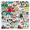 かわいいサンタクロースのクリスマス落書きステッカーラップトップスーツケース冷蔵車防水装飾おもちゃ50PCS