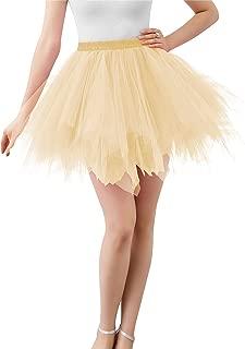 BIFINI Adult Women 80's Tutu Skirt Layered Tulle Petticoat Halloween Tutu