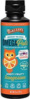 Barlean's Seriously Delicious Omega Pals, Hooty Fruity Tangerine Fish Oil +Eye Health, 8 Ounce