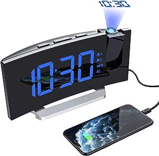 Mpow Despertadores Digitales de Proyector, Radio Despertador