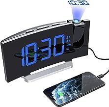 Mpow [Versione AGGIORNATA] Sveglia Digitale, Sveglia da Comodino, Radiosveglia con Proiettore, FM Orologio, Doppi Allarmi, USB Porta, Funzione Snooze, Sleep Timer, 5'' Display LED con Dimmer,12/24H
