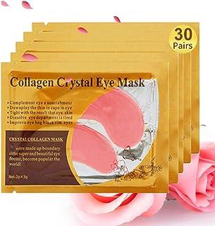 Under Eye Patches, 30 Pairs Pink Eye Mask, Eye Gel Pads With Collagen, Eyes Treatment for Reducing Dark Circles, Lighten W...