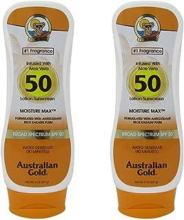 Australian Gold Spf#50 Lotion Moisture Max 8 Ounce (237ml) (2 Pack)