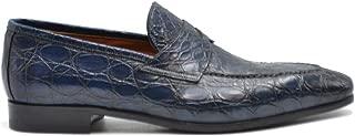SANTONI Luxury Fashion Mens MCBI38415 Blue Lace-Up Shoes | Season Outlet