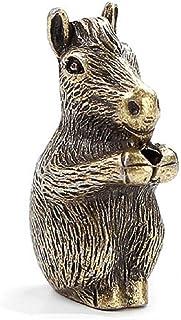 DMtse Brass Mini Antique Horse Statue Incense Holder Burner Ornaments Meditation Serene Statue Figurine Collectible