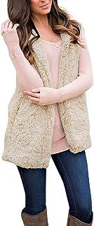 Misaky Women's Vest Hoodie, ' Winter Warmt Zip Up Flannel Sleeveless Jacket Coat