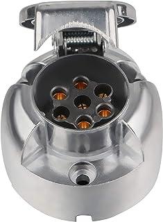 Spurtar Metall Steckdose für Anhängerkupplung, 12 V, 7 polig, 7 polig, für Wohnwagen