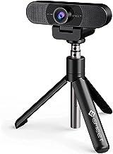1080P Webcam with Microphone & Tripod, eMeet C960 Web Camera, 2 Mics Streaming Webcam, Adjustable Height Mini Tripod, Plug...