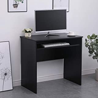 Home Source Computer Desk PC Laptop Table Home Office Study Gaming, Black, Workstation